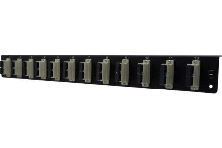 Façade équipée 12 SC UPC MM Duplex pour tiroir optique 1U