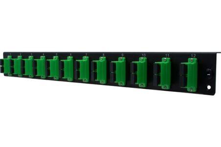 Façade équipée 12 SC APC SM Duplex pour tiroir optique 1U