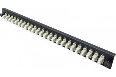 Façade équipée 24 LC UPC MM Duplex pour tiroir optique 1U