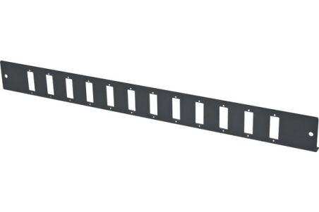 Façade nue 12 SC Duplex / LC Quad pour tiroir optique 1U