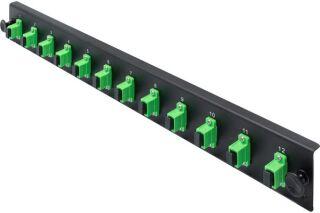 Façade équipée 12 SC APC SM Simplex pour tiroir optique 1U