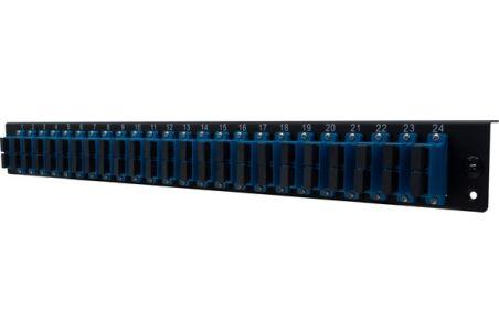 Façade équipée 24 SC UPC SM Duplex pour tiroir optique 1U