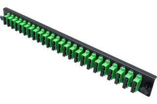 Façade équipée 24 SC APC SM Duplex pour tiroir optique 1U