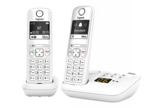 Gigaset AS690A DUO tél.DECT + REP - base + 2 combinés blancs
