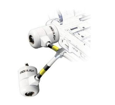 Mobilis Corporate Key Twin - Câble de sécurité - blanc - 1.8 m