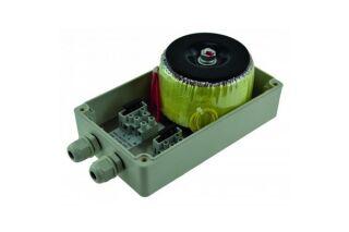 Transfo.230V AC/24V AC/120VA(5a)boitier ABS IP 65 180x105x80