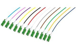 PIGTAIL OS2 LC/APC LSOH 12 CONNECTEURS 2m