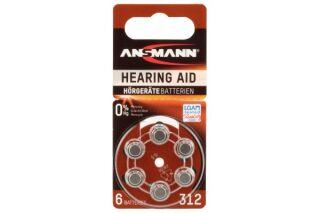 Pile auditive zinc air AZA312 (PR41) 1,45 V