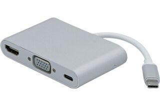 Convertisseur USB 3.1 Type C vers HDMI +VGA + CHARGE TYPE C