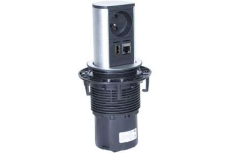 BACHMANN Multiprise encastrable ELEVATOR 1 prise+1 RJ45+1 USB