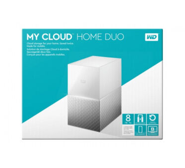 WD My Cloud Home Duo WDBMUT0080JWT - dispositif de stockage personnel dans le nu