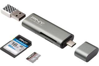 PNY Lecteur de carte mémoire USB-C