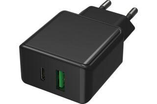 CHARGEUR SECTEUR 2 PORTS USB QC + TYPE C PD