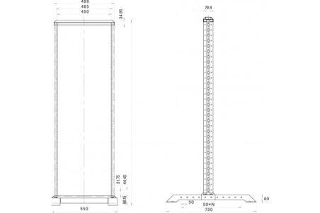 Bâtirack simple OPEN-1 42 U (noir) en kit