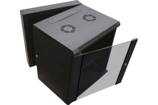 """Coffret WM-60 Double section 19"""" 9U profondeur 550 mm (noir)"""