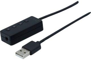 Carte son USB-A MS Teams pour casque simple et double jack 3.5mm