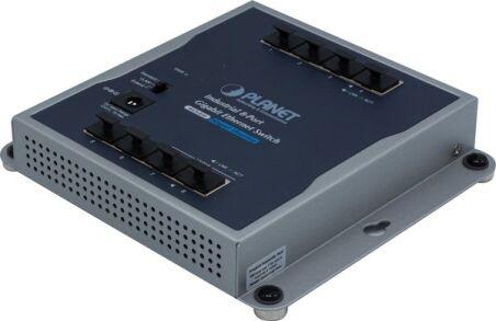 PLANET WGS-810 Switch industriel plat 8 Gigabit -20/+60° avec alim.