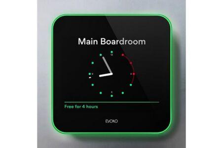"""EVOKO LISO  écran 8"""" de roombooking On-Premises"""