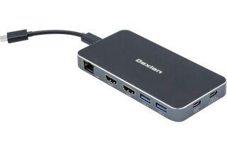 Dock USB-C Dual HDMI 4K LAN 2x USB-A +Charg.100W