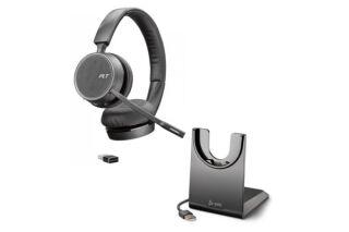 POLY Voyager 4220 UC Teams +clé BT et Socle chargeur USB-A