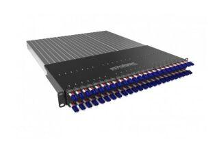 PATCHBOX PLUS+ équipé de 24x Jarretières OS2 LC-LC 1,7 m