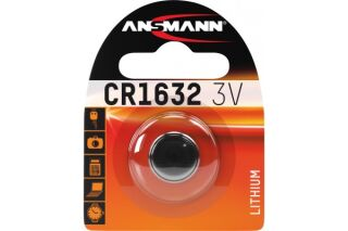 ANSMANN pile lithium CR1632 - Blister de 1