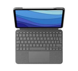 LOGITECH Combo Touch - clavier et étui - avec trackpad - AZERTY - Français - gri