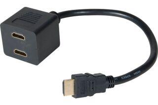 CABLE 1 HDMI/ M vers 2 HDMI /F (AUDIO)